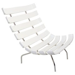 Costela Style Lounge White Chair after Martin Eisler Carlo Hauner