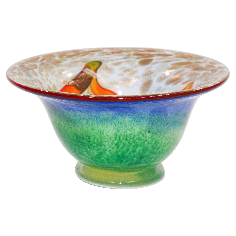 Murano Venetian Large Art Glass Bowl
