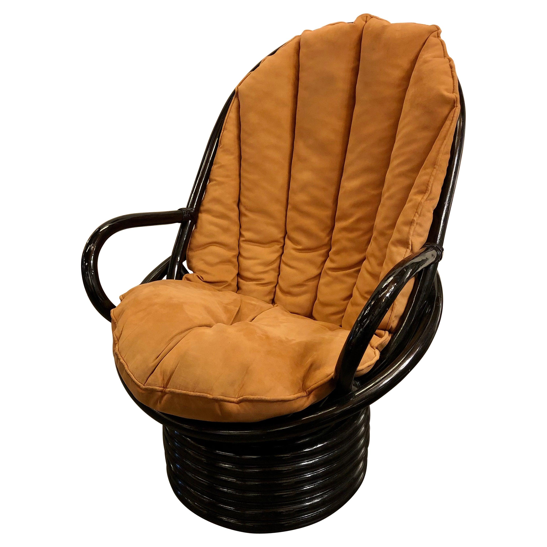Bamboo Swivel Lounge Chair