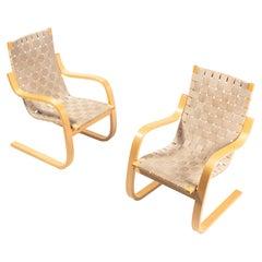 "Armchair 406 ""Pension Chair"" by Alvar Aalto for Artek"