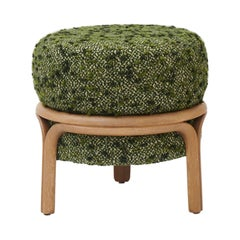Jelly Stool in Green Fabric by Objective Collection OBJ+