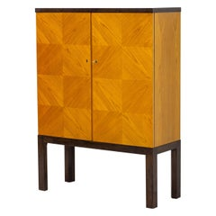 Art Deco/ Modernist Cabinet in the Style of Otto Schulz, Sweden, 1930s
