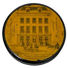 18th Century Lacquered Papier-mâché Snuff Box, Kalverstraat No. 224 Amsterdam