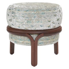 Jelly Stool in White Fabric by Objective Collection OBJ+