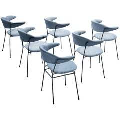 Set of Six Arflex Italian Dining Chairs