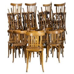 1950's French Warm Oak Bentwood Dining Chairs, Various Quantities Available