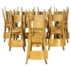 1950's French Baumann Blonde Beech Bentwood Dining Chairs, Various Qty Available