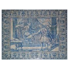 "18th Century Portuguese "" Azulejos "" Panel ""Countryside Scene"" 218cm x 174cm"