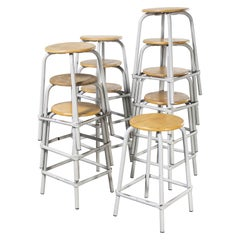 1960's French Grey Laboratory Stools, Various Quantities Available