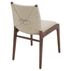 Cappio Dining Chair in Walnut Finish with Beige Seat and Seat Back, set of 2