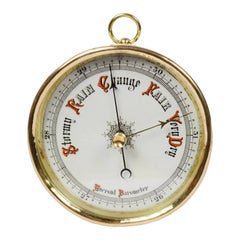Vintage Aneroid Barometer, Late 19th century