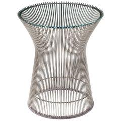 Warren Platner for Knoll International Side Table in Glass and Steel