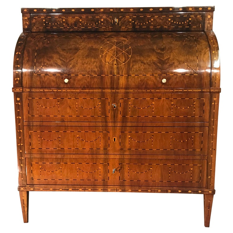 Louis XVI Cylinder Desk, South Germany, 1780 For Sale
