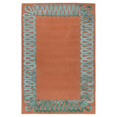 Ruffle Sage Hand-Knotted 10'x7' Rug in Wool and Silk By Martin Brudnizki