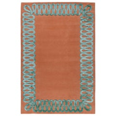 Ruffle Sage Hand-Knotted 12'x9' Rug in Wool and Silk By Martin Brudnizki