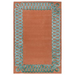 Ruffle Sage Hand-Knotted 14'x10' Rug in Wool and Silk By Martin Brudnizki