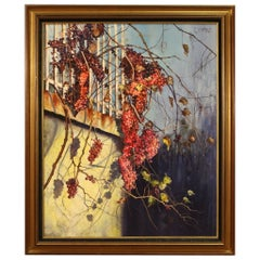 20th Century Oil on Canvas French Signed Painting, 1980