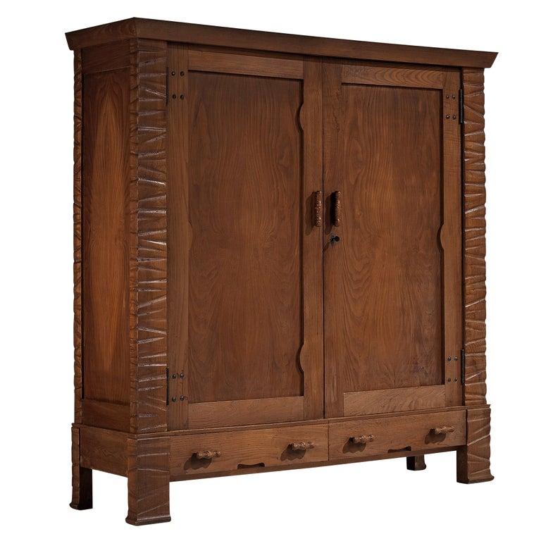 Ernesto Valabrega Large Wardrobe in Oak For Sale