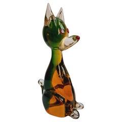 Murano Glass Somerso Dog