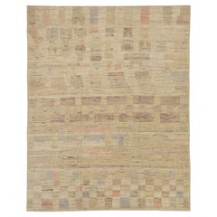 Nazmiyal Collection Geometric Modern Distressed Rug. 9 ft 3 in x 11 ft 9 in