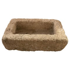 1950s Spanish Hand Carved Stone Trough