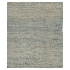 Nazmiyal Collection Blue Textured Modern Distressed Rug. 9 ft 8 in x 11 ft 8 in