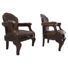 Rare Art Deco Armchairs from Ministry of Interior Czechoslovakia, 1930s