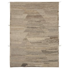 Nazmiyal Collection Modern Distressed Rug. 9 ft 2 in x 12 ft 1 in