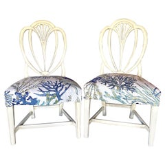 Pair of 19th Century Arched Back Side Chairs