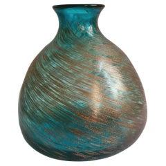 Murano Glass Vase with Aventurine