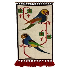 Vintage Olga Fisch Folklore Wall Tapestry
