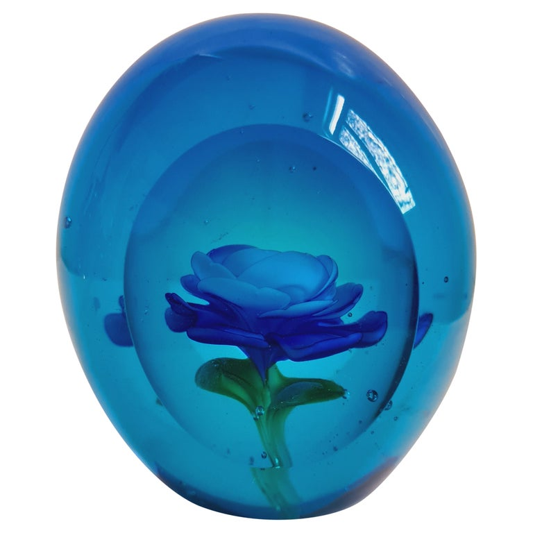 Murano Glass Faceted Paperweight, Archimede Seguso For Sale