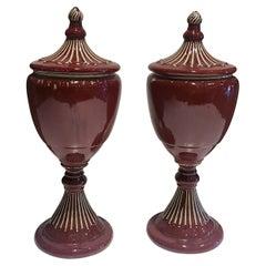 Burgundy Ceramic Vases