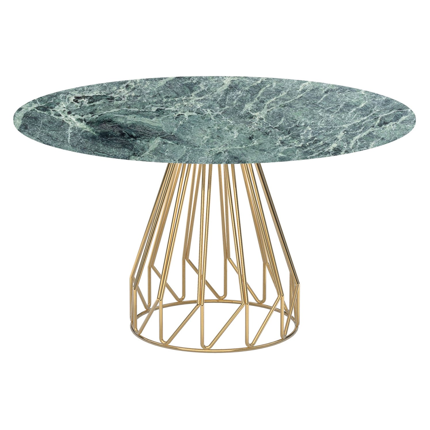 Contemporary Minimalist Table Gold, Green Alps Made in Italy by LapiegaWD