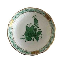 Herend Hungary Chinese Bouquet Green Caviar Dish