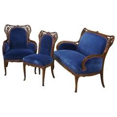 Plumet et Selmersheim Art Nouveau Seating Suite