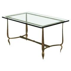 Rene Prou Gilt Iron Coffee Table