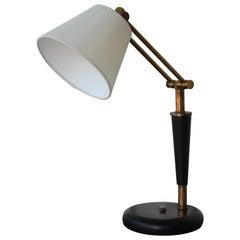 1950s Adjustable French Desk Lamp