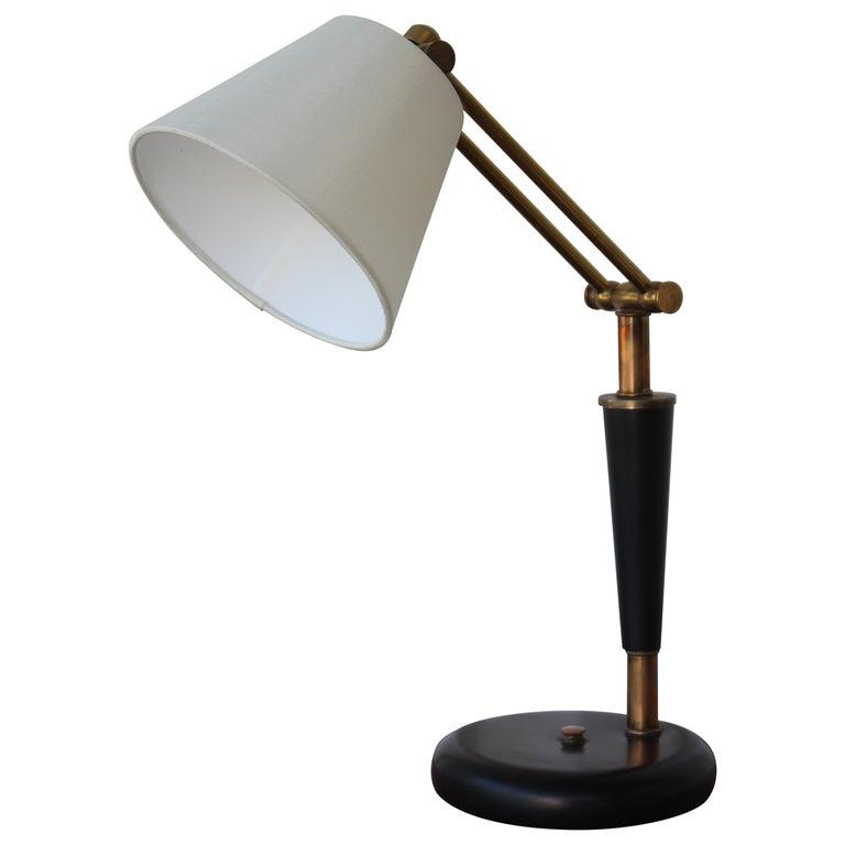 1950s Adjustable French Desk Lamp For Sale