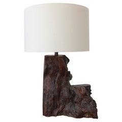 1970s Burl Wood Lamp
