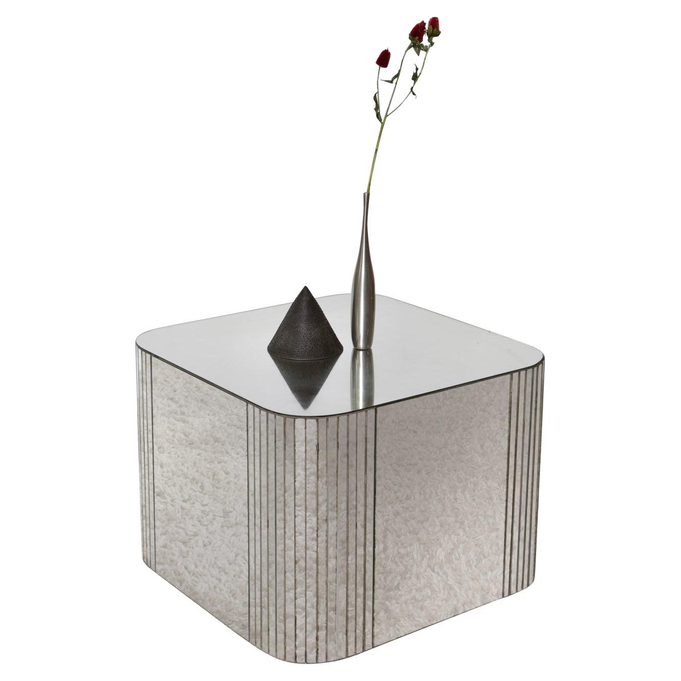 Mid-Century Modern Mirrored Coffee/Side Table