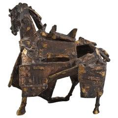 Brutalist Bronze Horse Sculpture by Venancio Blanco Spain, 1923-2018