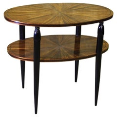 'Attributed to' Maurice Dufrene Oval Two-Tiered Table