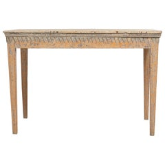 18th Century Swedish Gustavian Country Pine Side Table