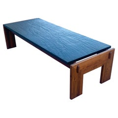 Walnut and Slate Coffee Table by Adrian Pearsall