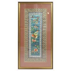Fine Chinese Silkwork Panel in Gilt Frame