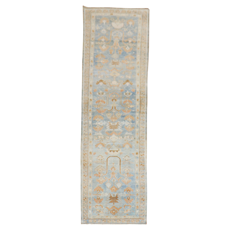 Soft Blue Antique Persian Runner