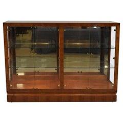 Henredon Mahogany Lighted Display Cabinet