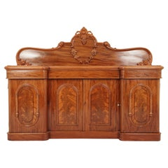 Antique Victorian Carved Mahogany Sideboard, Buffet, Scotland, 1870