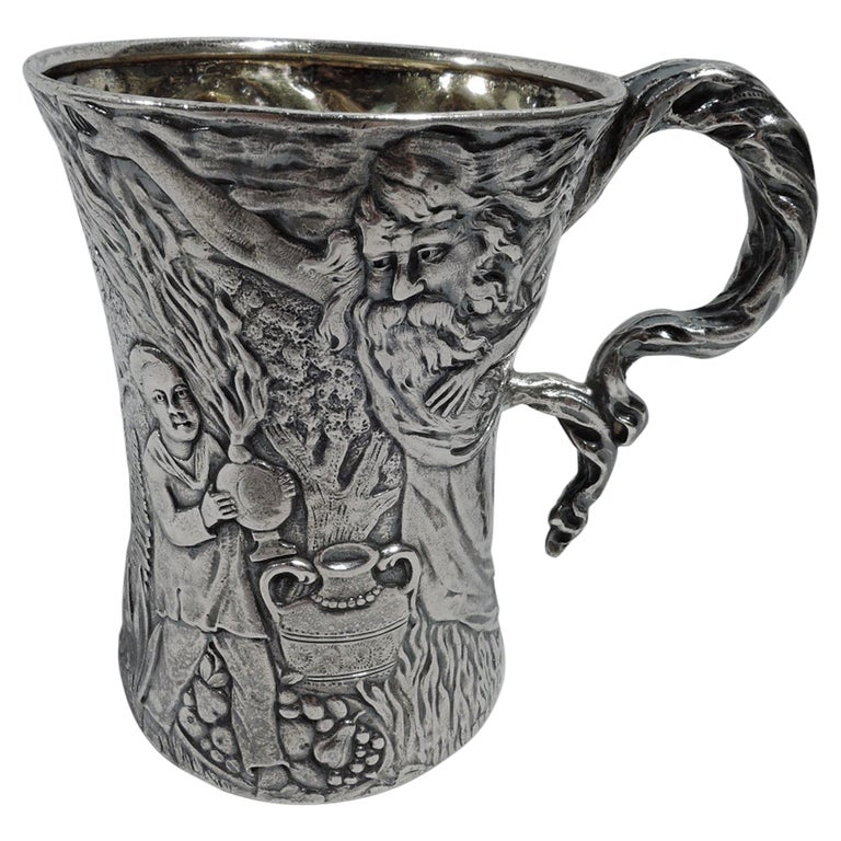 Rare & Unusual Antique American Sterling Silver Baby Cup by Tiffany For Sale